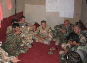 Russ Lewis in Afghanistan, where he first starting thinking about the universals of leadership