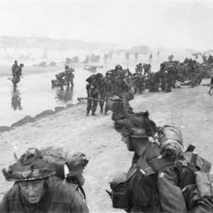 High morale on the Beaches of Normandy