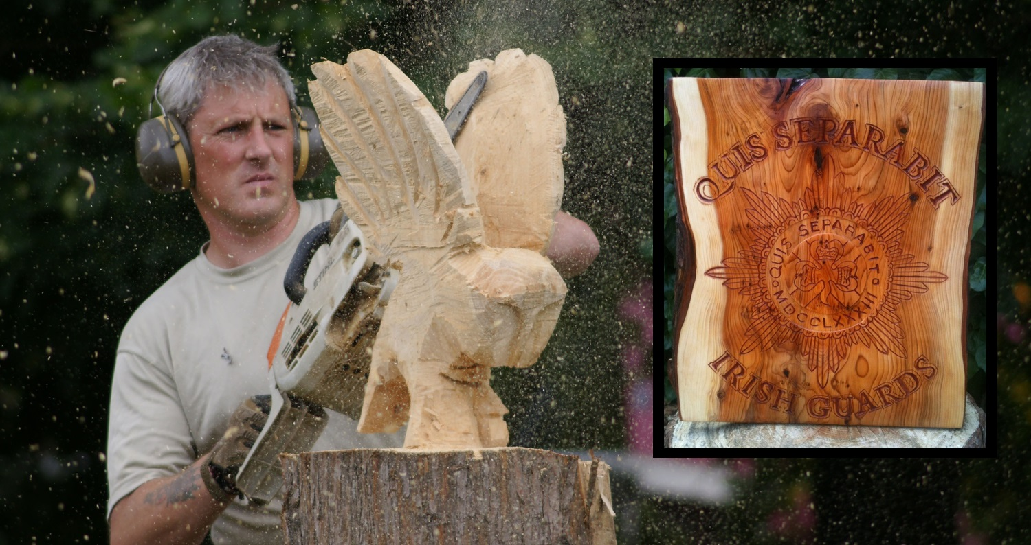 Les Langley's Chainsaw Art - ideal father's day gifts for soldiers