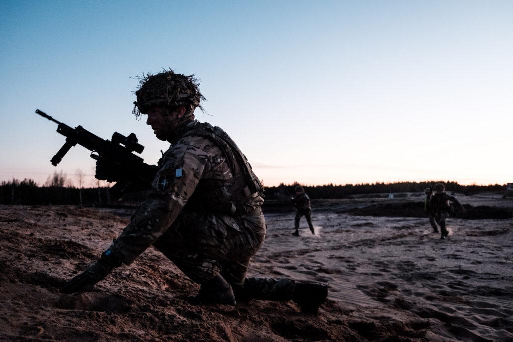 Soldiers in training in Estonia
