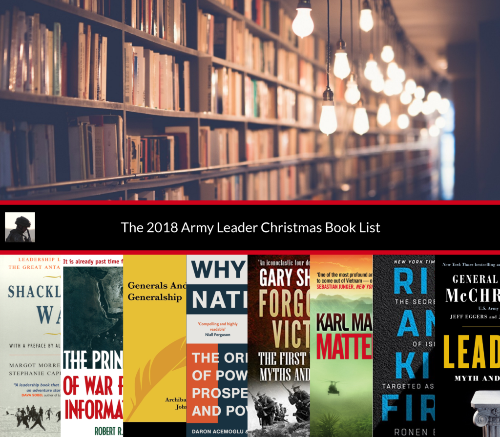 2018 Christmas Leadership Book List The Army Leader